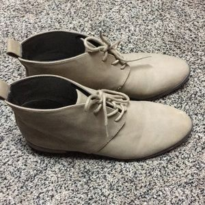 Suede tan shoes